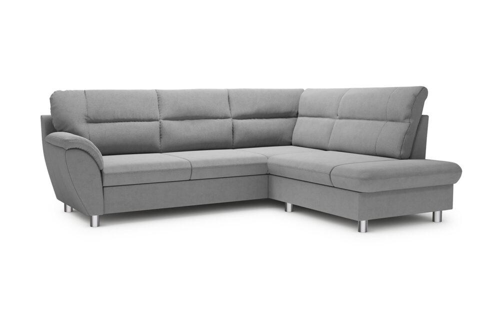 Amigo Corner Sofa - soft touch silver