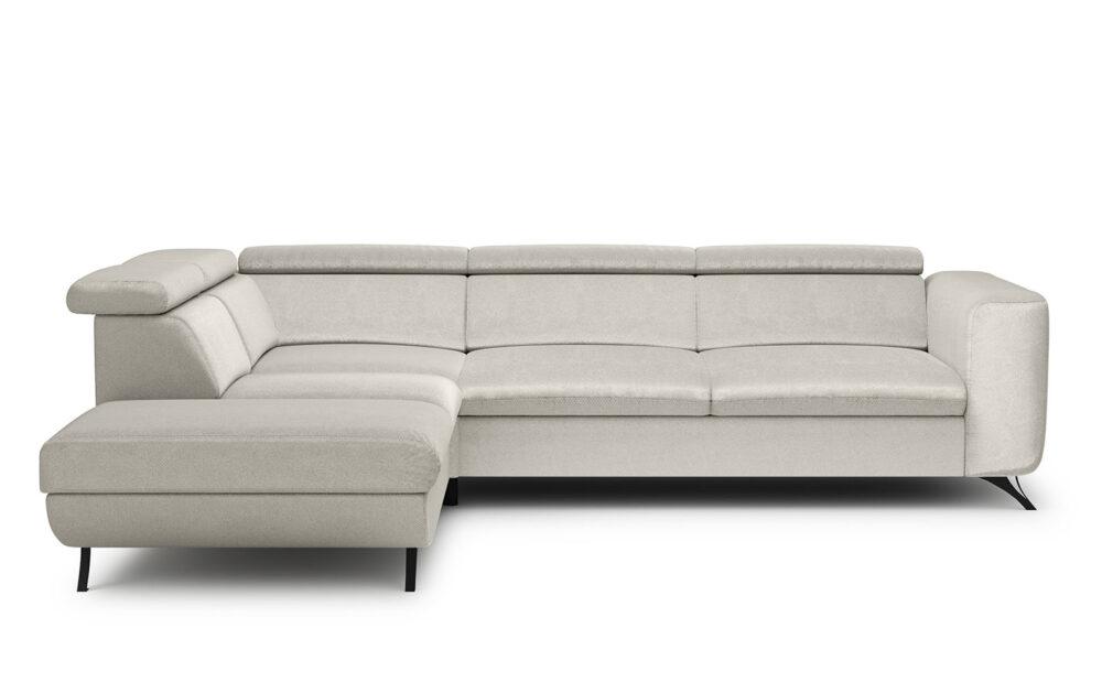 Aratta Corner Sofa - soft velur silver