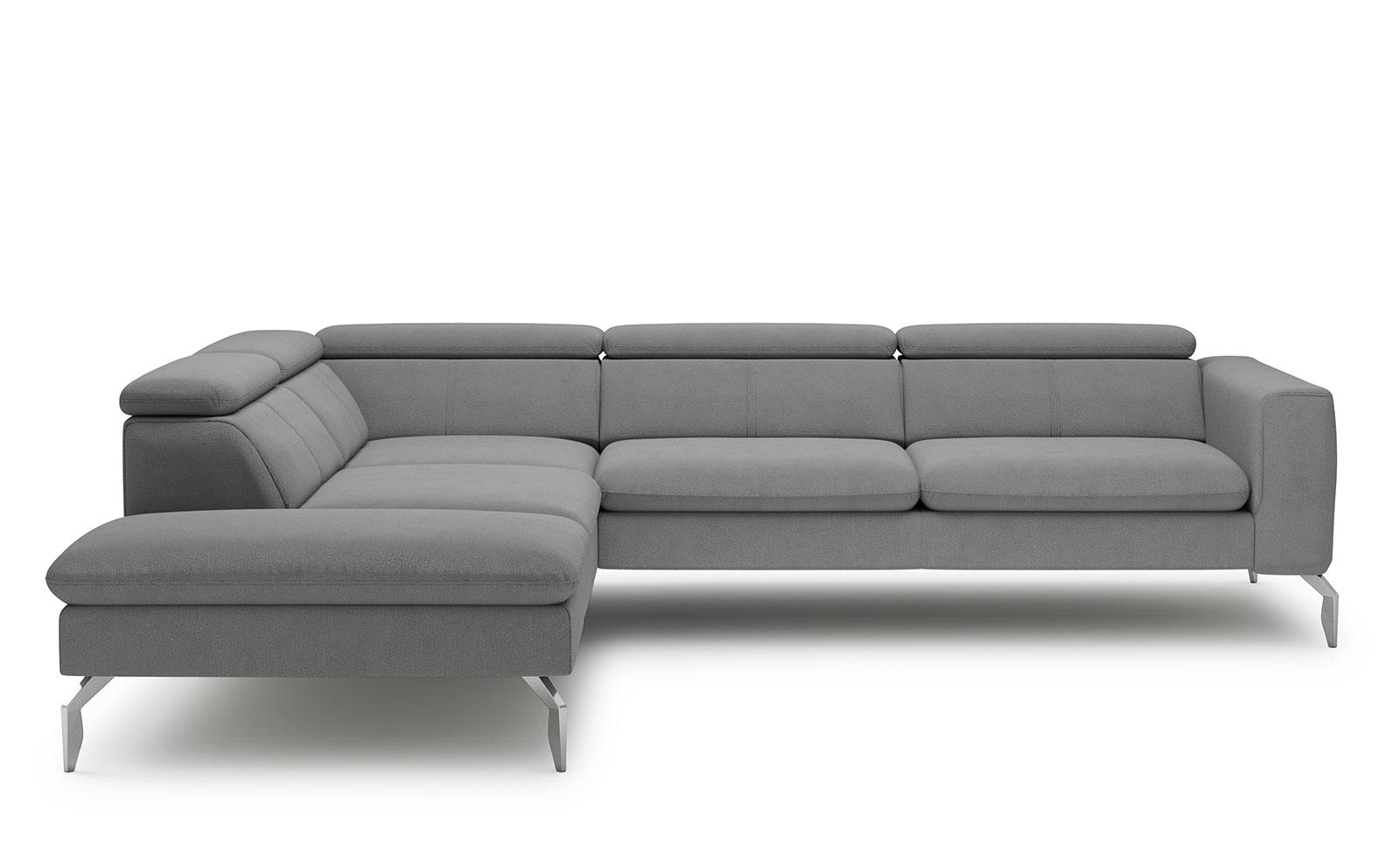 Arezza Corner Sofa - soft touch grey