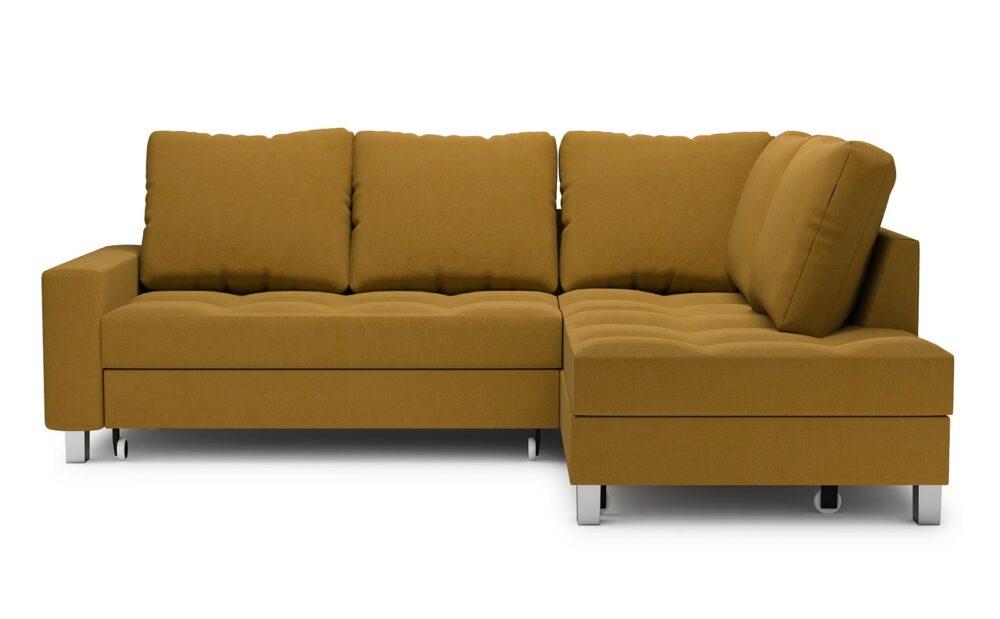 Bari Corner Sofa - soft touch mustard