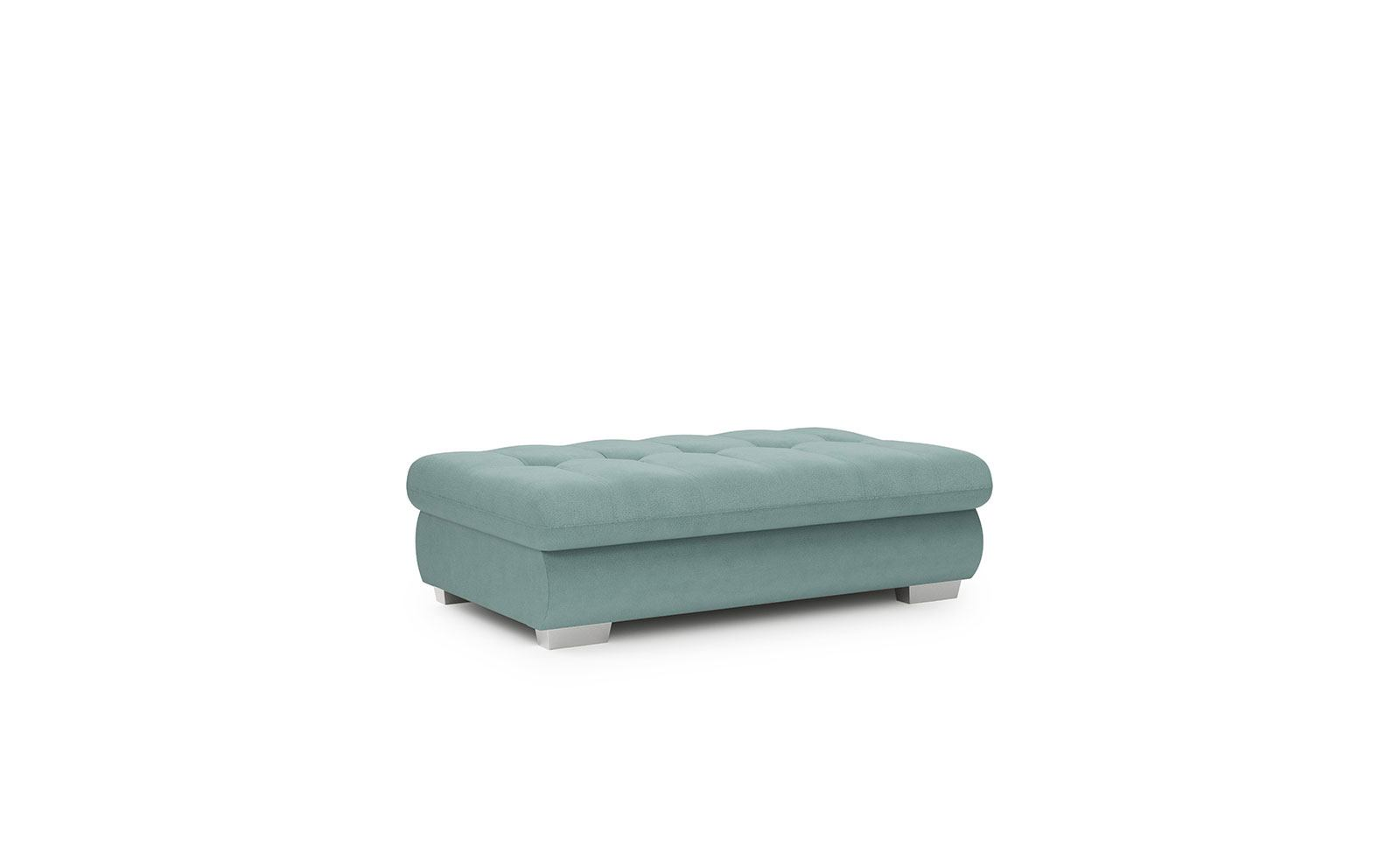 Cremona Footstool - soft touch mint