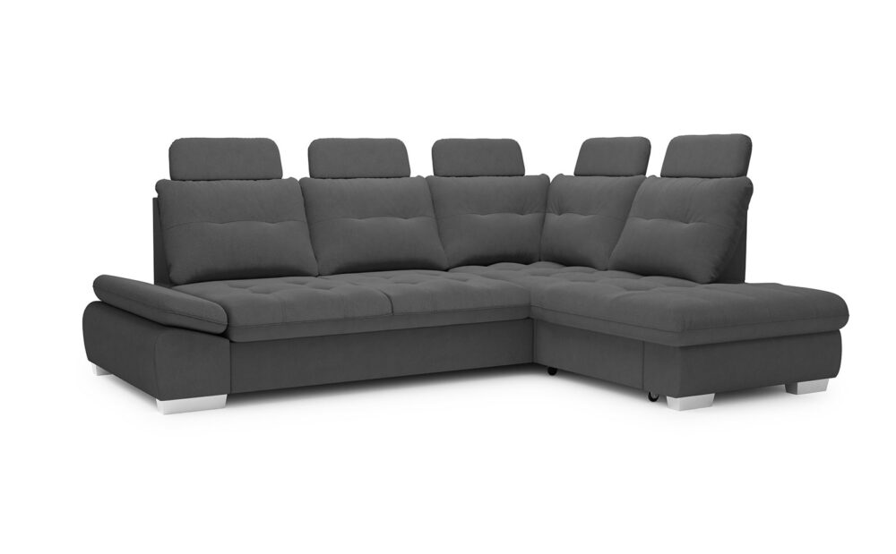 Cremona Large Corner Sofa - soft touch anthracite