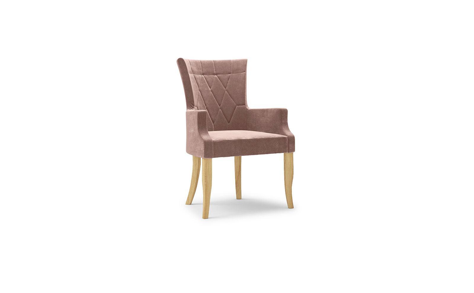Dima Armchair - velvet powder pink