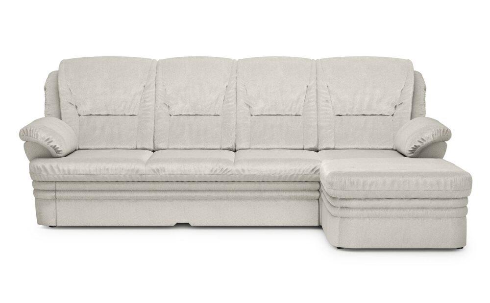 Dubai Small Corner Sofa - soft velur silver