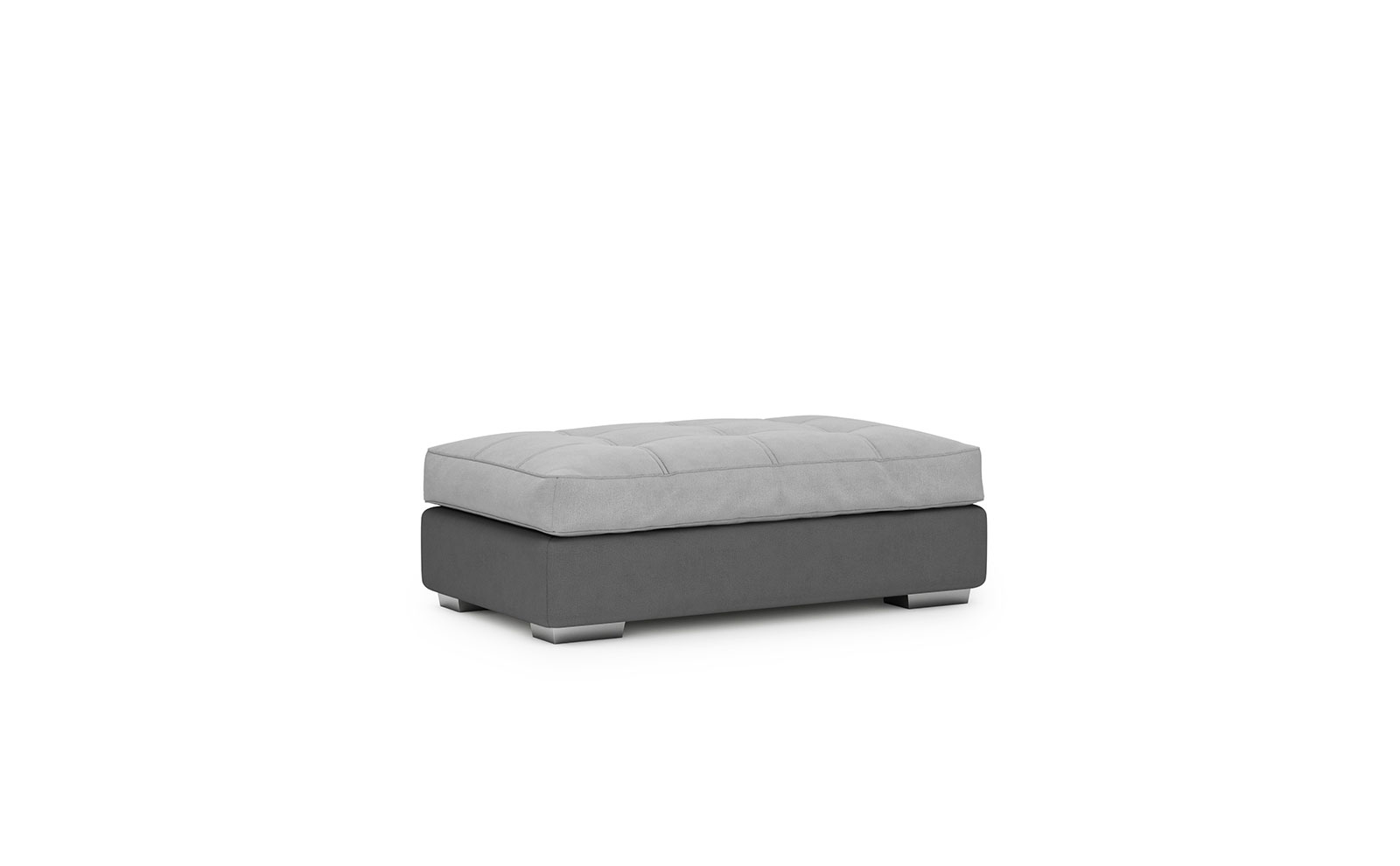 Fano Footstool - soft touch silver-soft touch anthracite