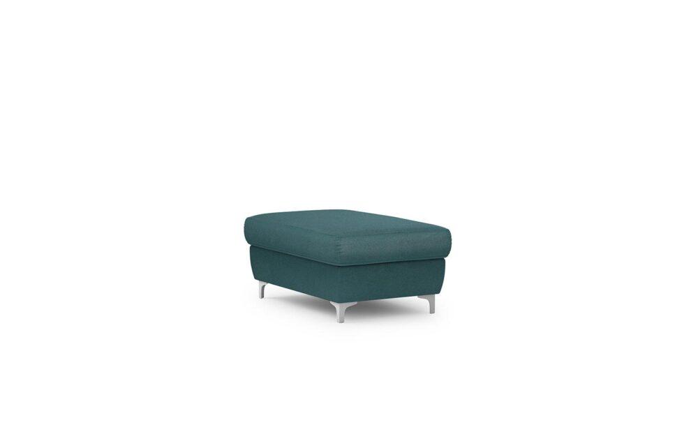 Genova Footstool - soft velur turquoise