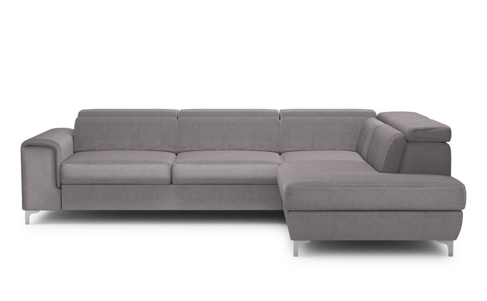 Genova Large Corner Sofa - soft velur lavender
