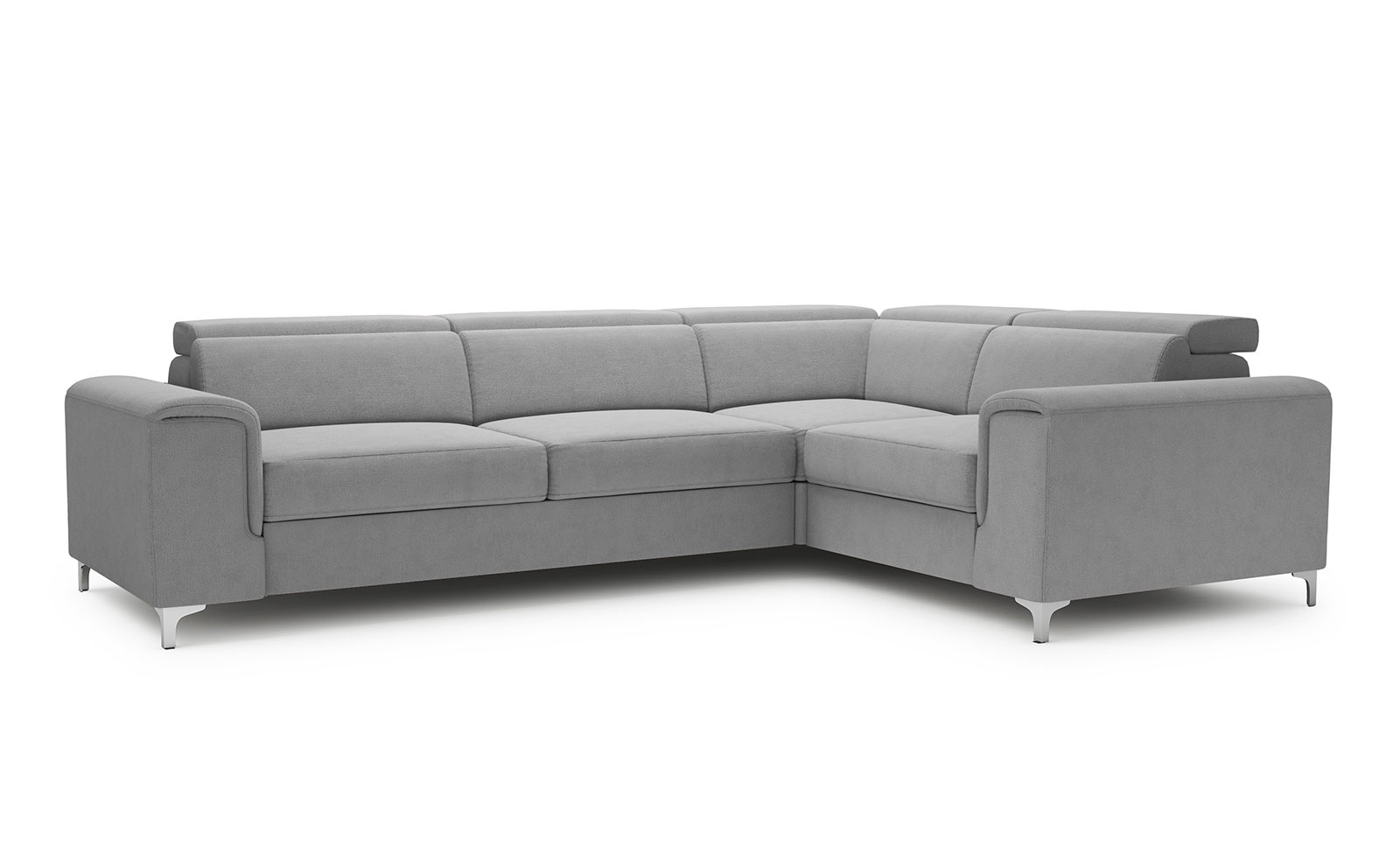Genova Medium Corner Sofa - soft touch silver