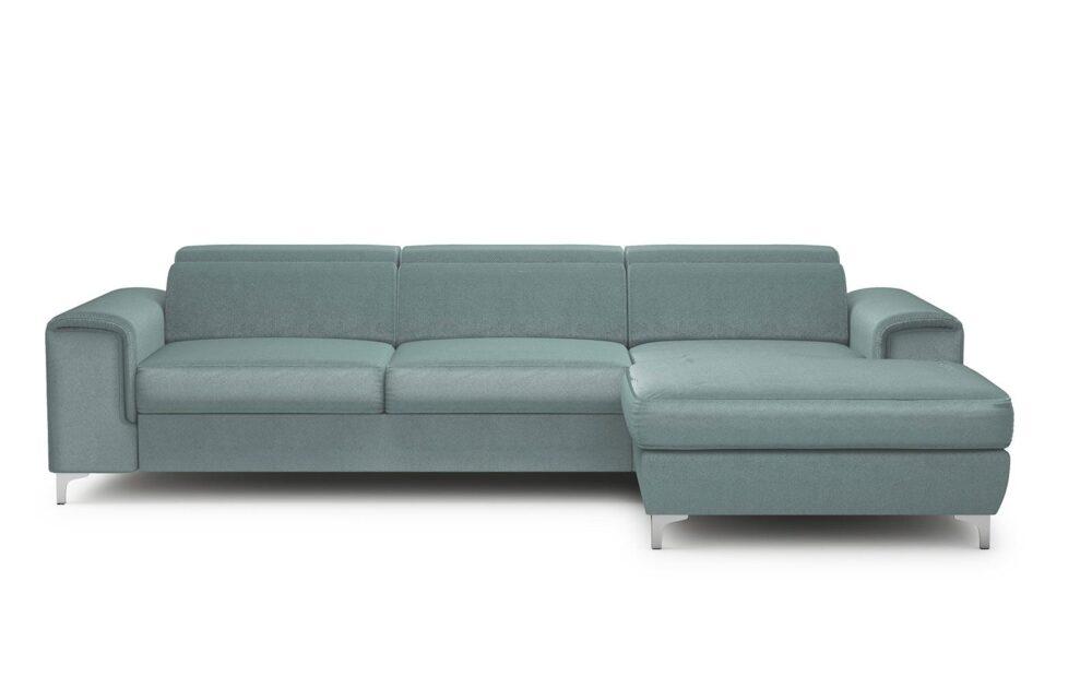 Genova Small Corner Sofa - soft velur mint