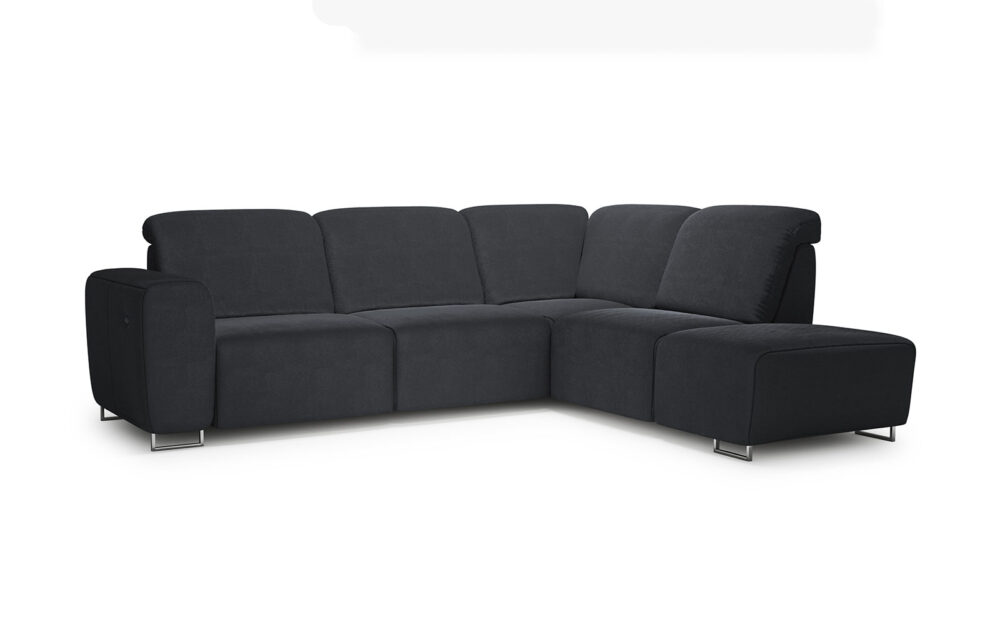 Lotta Reglainer Corner Sofa - soft velur anthracite