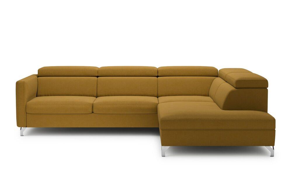 Marozzo Corner Sofa - soft touch mustard