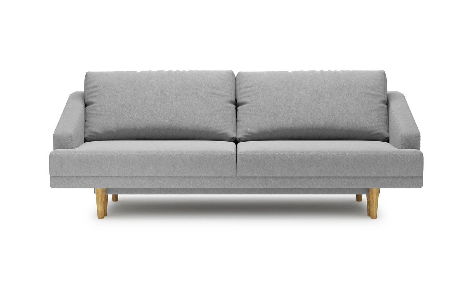 Pawia Sofa - soft touch silver