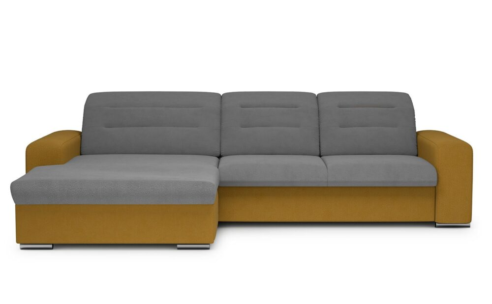 Play Corner Sofa - soft touch grey-soft touch mustard
