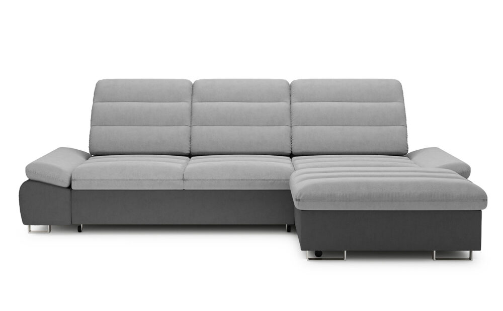 Roma Corner Sofa - soft touch silver-soft touch anthracite
