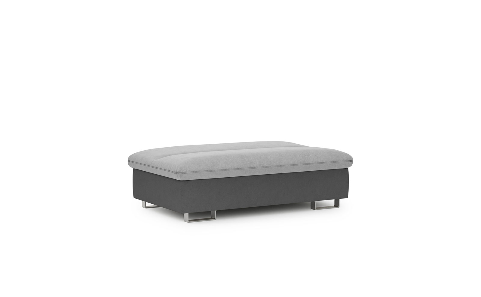 Roma Footstool - soft touch silver-soft touch anthracite