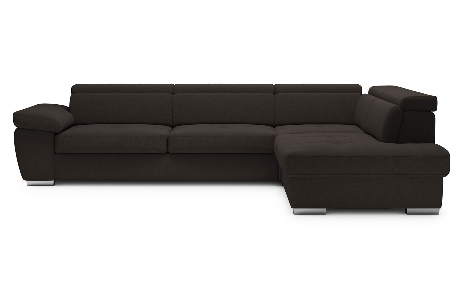 Rosso Medium Corner Sofa - soft touch marrone scuro