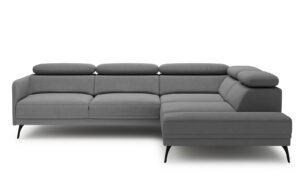 Sidolo Large Corner Sofa - soft touch grey