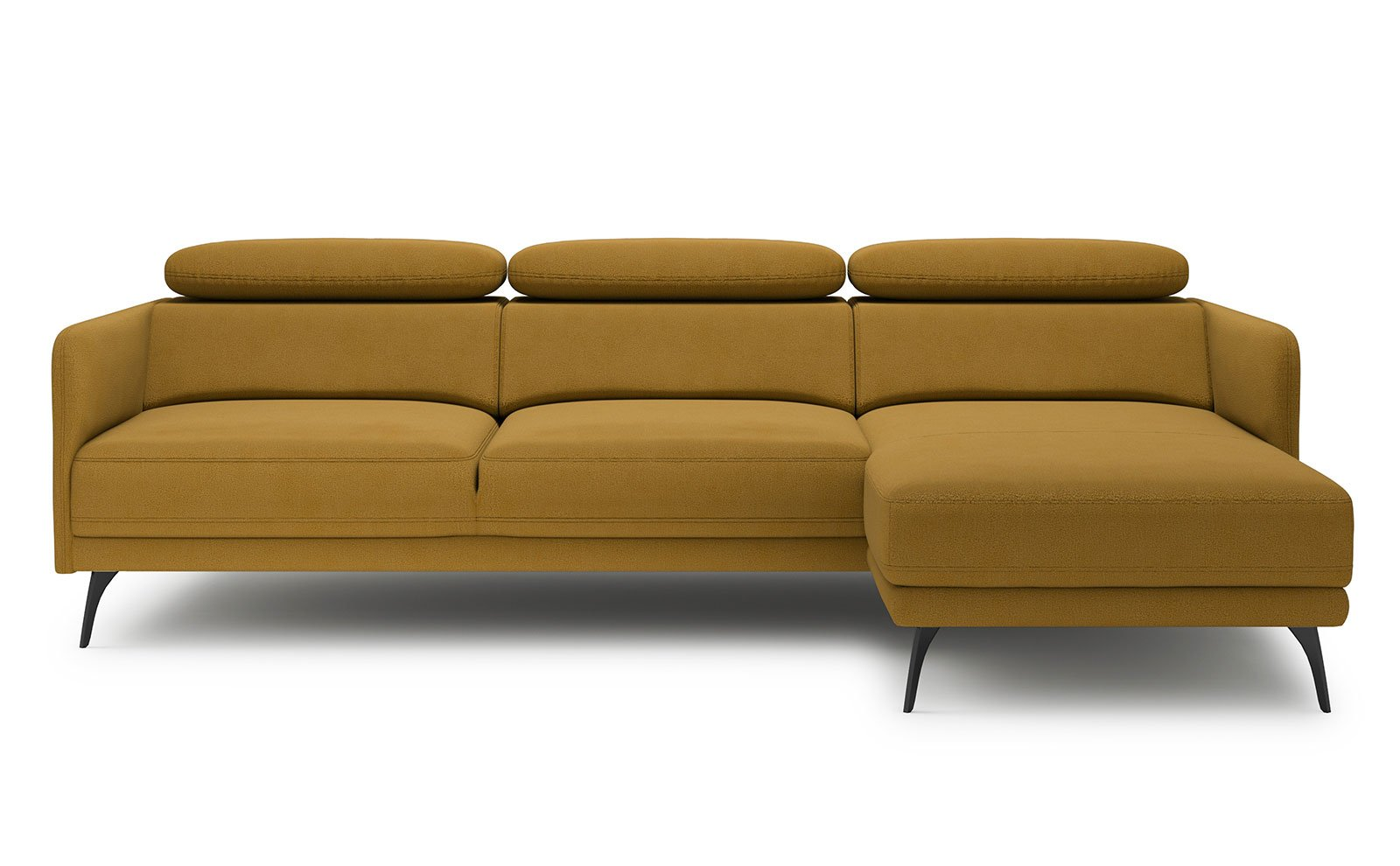 Sidolo Small Corner Sofa - soft touch mustard