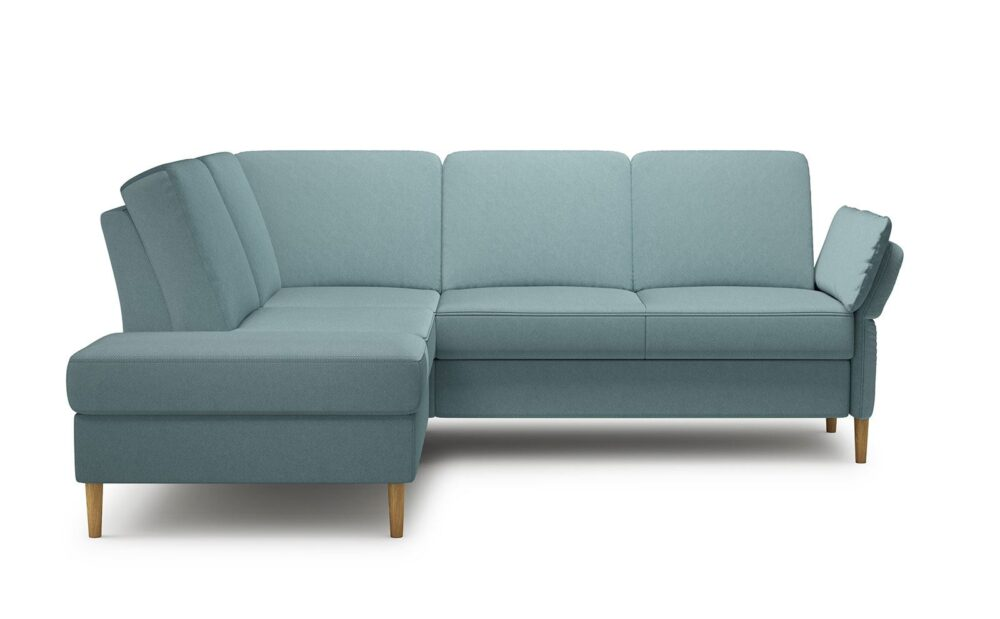 Sori Medium Corner Sofa - soft velur blue