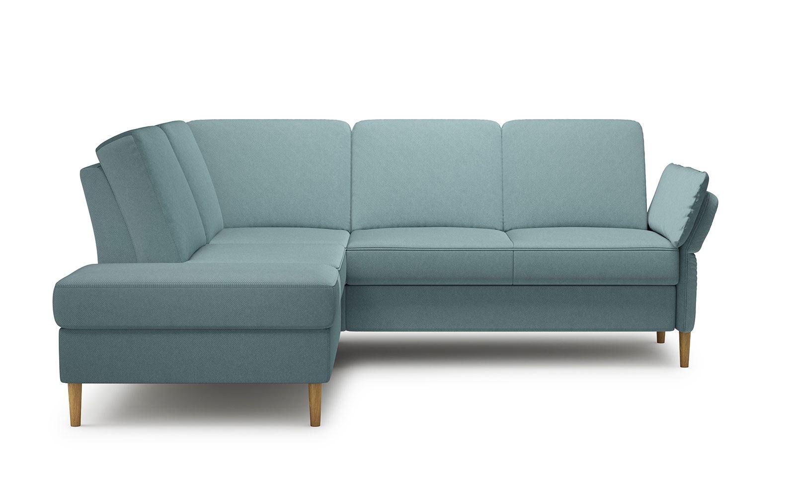 Sori Medium Corner Sofa - soft velur blue
