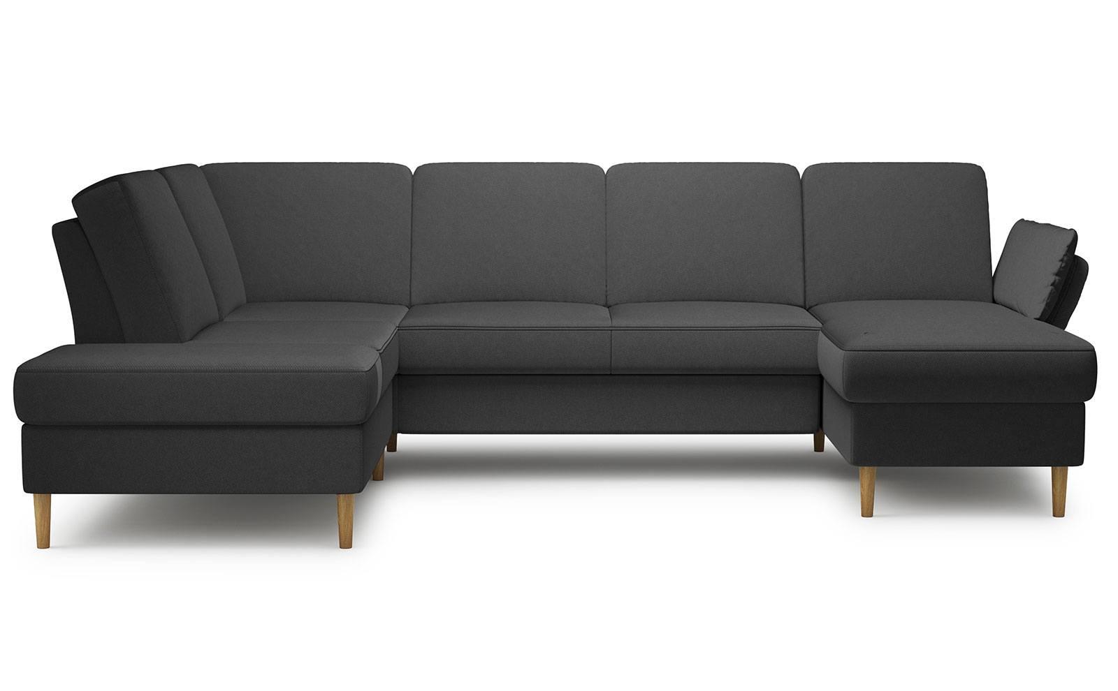 Sori X-Large Corner Sofa - soft velur nero