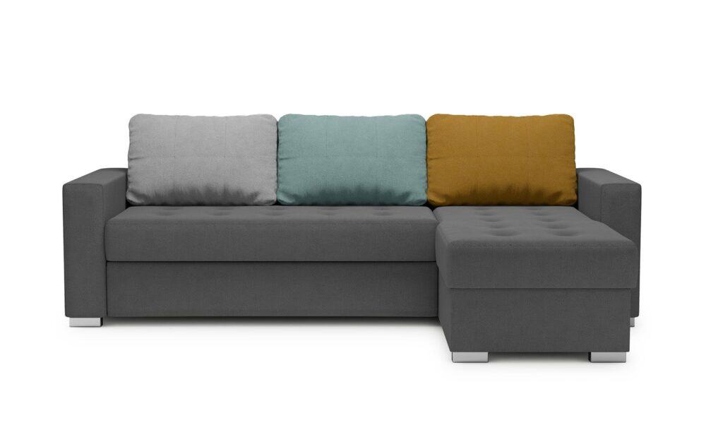 Twist Corner Sofa - soft touch anthracite-soft touch silver-soft touch mint-soft touch mustard