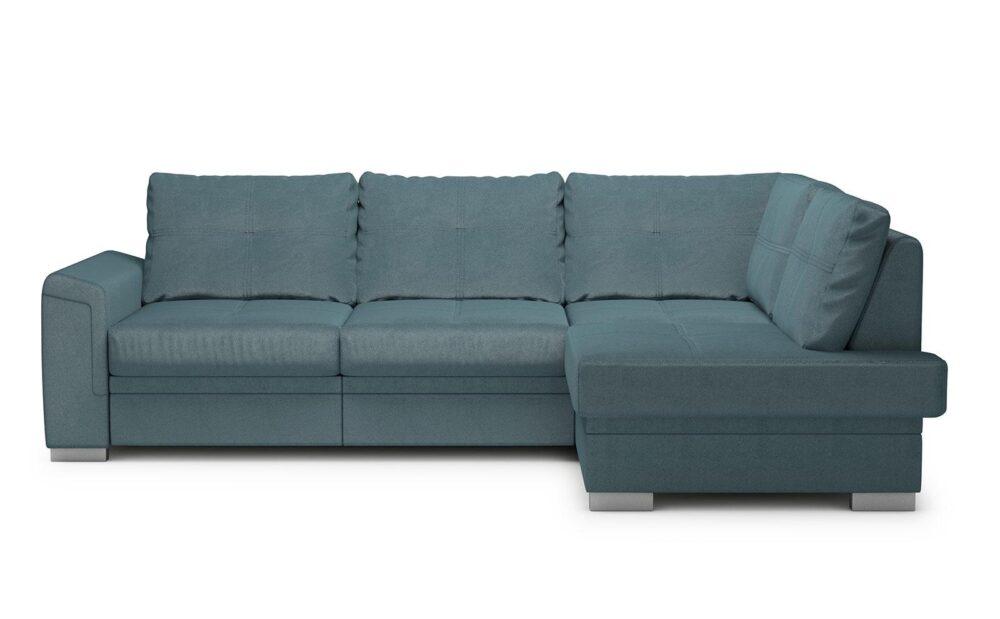 Verona Mini Corner Sofa - soft velur blue