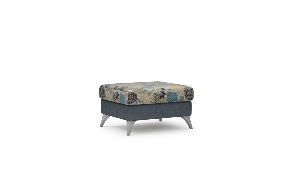 Vittorio Footstool - easy clean anthracite-nippon s-265 4001